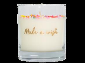 Vela Make a Wish con chispas de colores de Boreal
